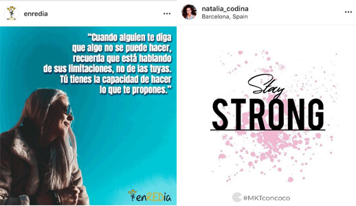 Ideas Creativas Instagram - Motivación