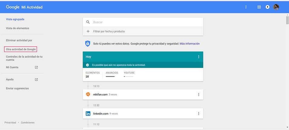 Otras actividades de Google