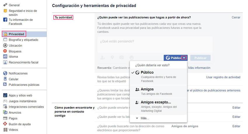 Privacidad Facebook - Publicaciones