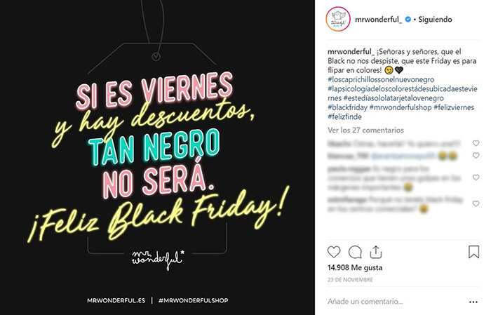 Calendario CM - Black Friday - MrWonderful