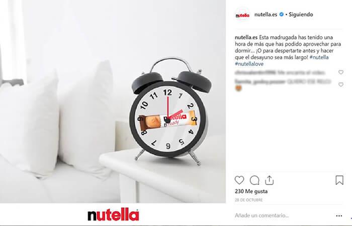 Calendario CM - Cambio Hora - Nutella