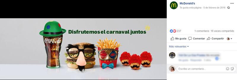 Calendario CM - Portada Carnavales McDonalds