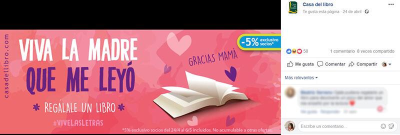 Calendario CM - Portada Día Madre Casa del Libro