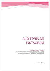 Recurso auditoría de Instagram