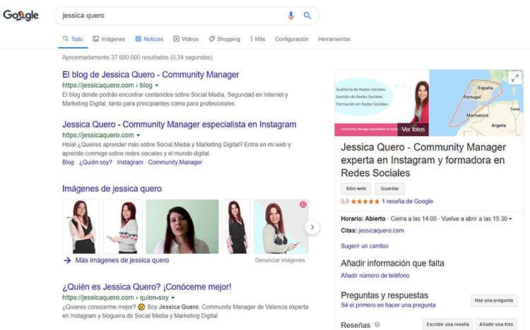 Google My Business Jessica Quero