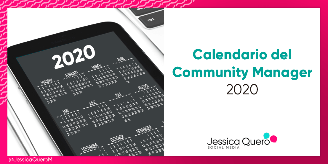 Calendario del Community Manager 2020