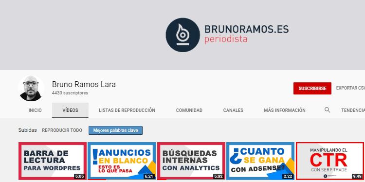Canal YouTube Bruno