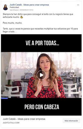 Anuncio en Instagram vídeo nugget - Judit Catalá