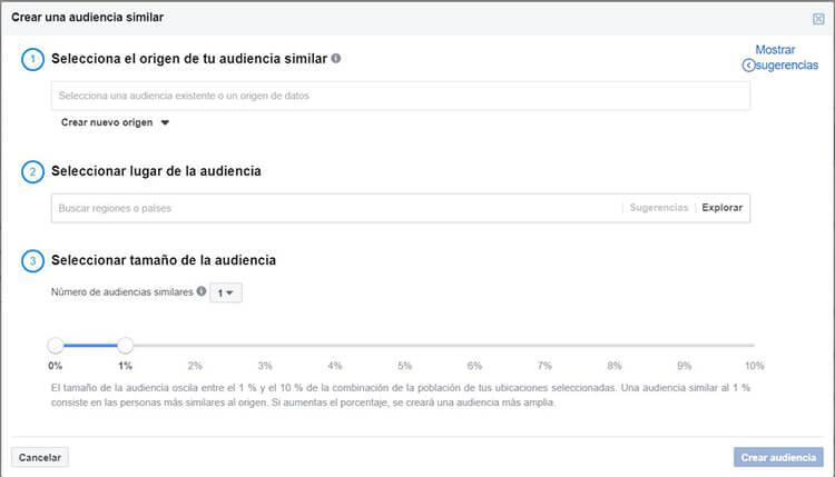 Segmentación Facebook Instagram - Público similar